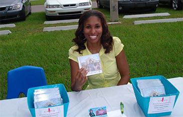 Tameka With Her CD